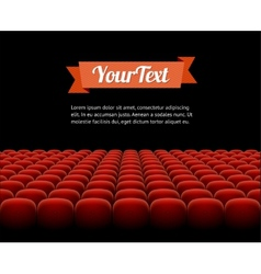 red cinema theatre seats vector image