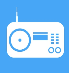Radio icon on blue background vector