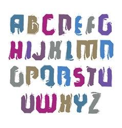 Bright calligraphic font handwritten watercolor vector