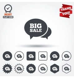 Chat big sale sign icon special offer symbol vector