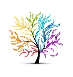 Art tree colorful for your design vector