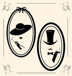 vintage womans hat vector image