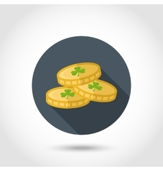 Coins leprechaun icon vector