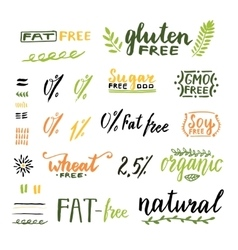 Badges and labels for homemade natural products vector