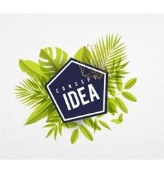 Frame floral idea lime vector image