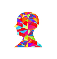 Colorful human head silhouette vector