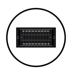 American football field mark icon vector