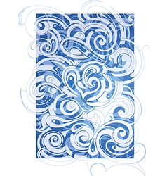 Abstraction with waves vector image