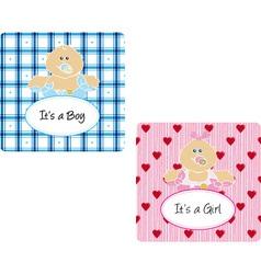 babycard vector image vector image