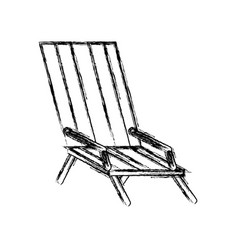beach chair isolated vector image vector image