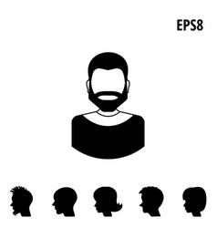 collection of male and female faces avatars vector image vector image