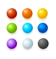Color glossy spheres or button set vector