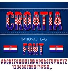 Croatia flag font vector