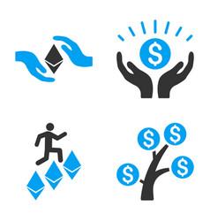 Financial prosperity icon set vector