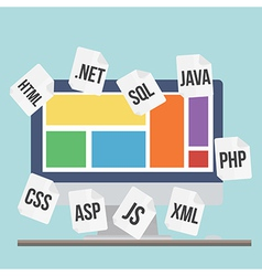 Flat design modern concept of process web pa vector