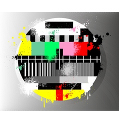 Grunge color test for television vector
