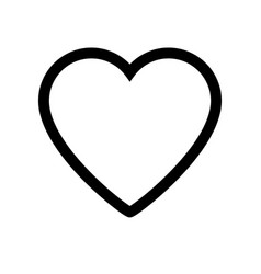 heart icon on white background vector image