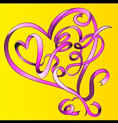 heart shape valentine graphic vector image