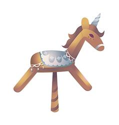Icon wooden horse vector