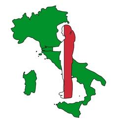 Italian handshake vector image vector image