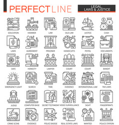 legal law and justice outline mini concept vector image vector image