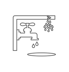 Nonworking water tap vector