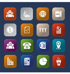 Office finance colorful icon set vector image vector image