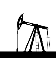 oil pump jack for petroleum isolated on white vector image vector image