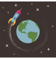 Rocket in orbit vector