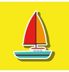 sailboat isolated design vector image