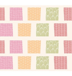 Seamless pattern with ornamental square shapes vector image vector image