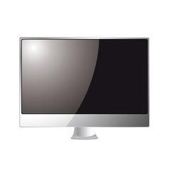 silver computer monitor vector image vector image