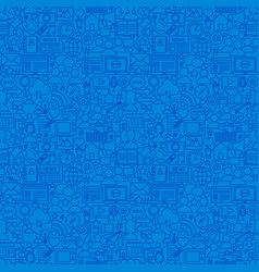 Social media line seamless pattern vector