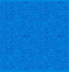 social media line seamless pattern vector image