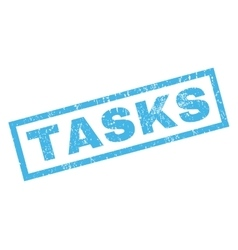 Tasks rubber stamp vector
