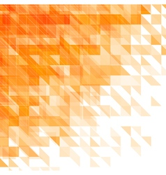 triangular geometric orange background vector image vector image