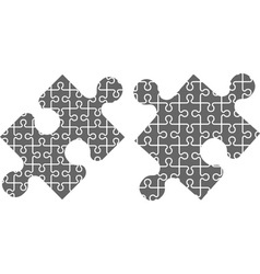 Two puzzle pieces stencil vector