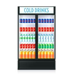 Vertical refrigerator template vector