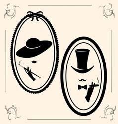 Vintage womans hat vector