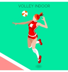 Volleyball indoor 2016 summer games 3d isometric vector
