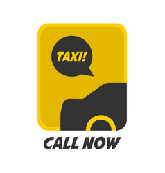 yellow and black taxi logo vector image