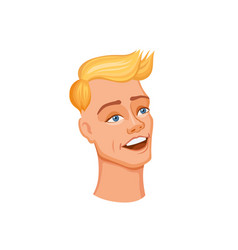 Young man head vector