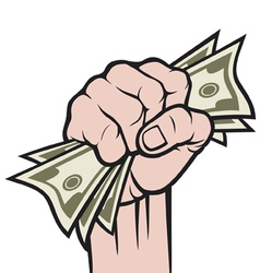 Money in hand vector image