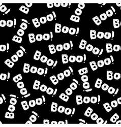 Halloween tile pattern with white boo text vector image
