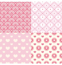Set of cute seamless patterns vector