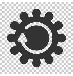 Cog rotation icon vector