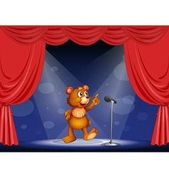 Cartoon performing bear vector