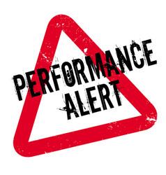 Performance alert rubber stamp vector
