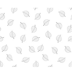 Hand drawn leaves in doodle styleseamless vector