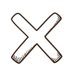 Cross No symbol vector image